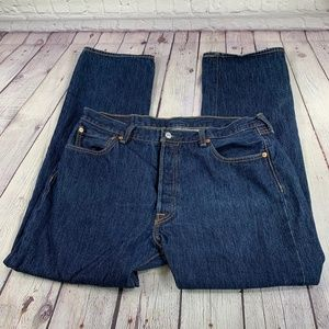 Levi's 501 Straight Leg Jeans Button Fly 36x30